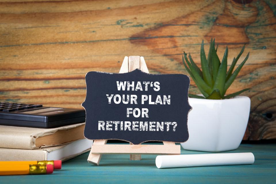 chalkboard plan for retirement