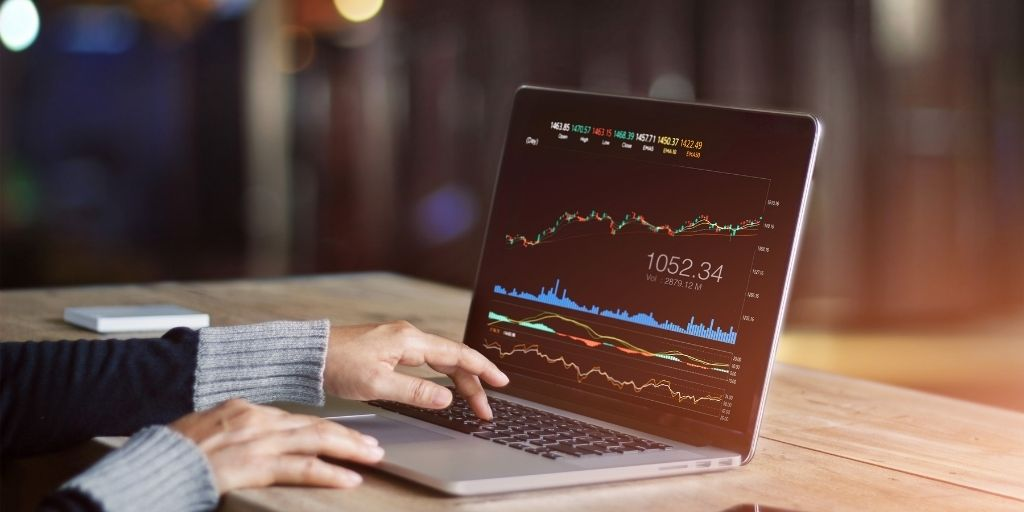 stocks on the computer