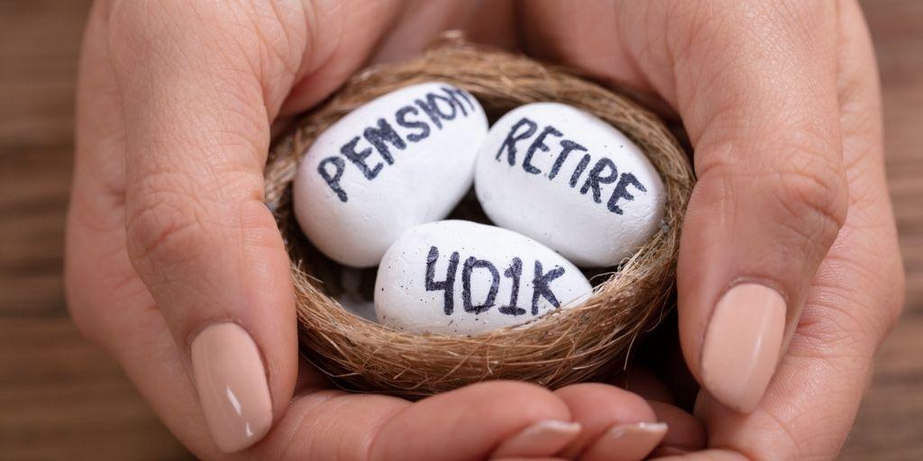 pension, retire 401k eggs