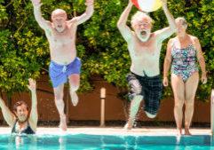 seniors swimming